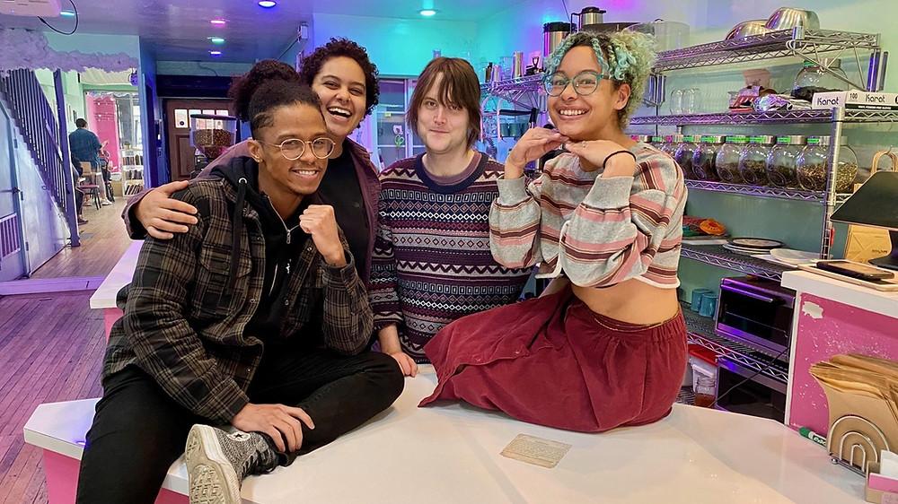 Cuties Coffee Shop employees