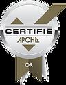 Certification Or de l'APCHQ Provincial