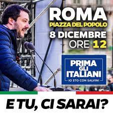 """""""Prima gli italiani - #dalleparoleaifatti"""": l'8 dicembre Salvini ci chiama a raccolta a Roma!"""