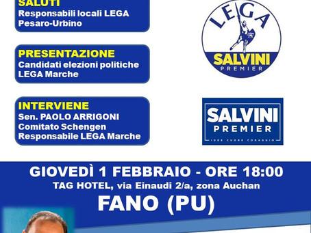 Immigrazione: a Pesaro-Urbino pioggia di milioni per l'accoglienza. Il 1 febbraio la Lega a Fano