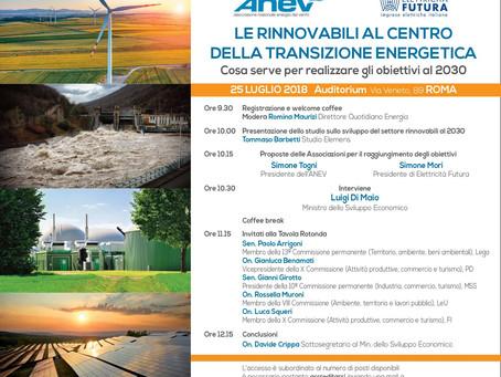Le rinnovabili al centro della transizione energetica: priorità abbassare le bollette ai cittadini!
