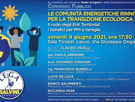 Comunità Energetiche Rinnovabili per la transizione ecologica. Il ruolo degli Enti territoriali
