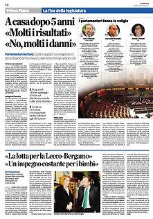 Rassegna stampa Paolo Arrigoni