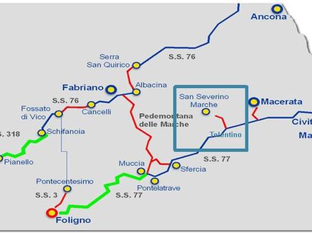 Dal CIPE i fondi per la Tolentino - San Severino Marche. Finanziate la SS. 16 e la Fano-Grosseto