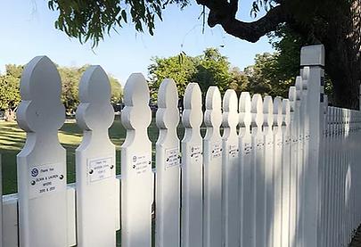 Picket Fence Plaque