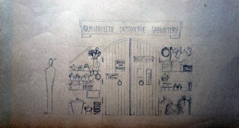 Premiers croquis épicerie 2 (proposition abandonnée)