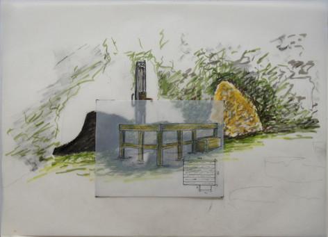 dessin structure de la pompe eau