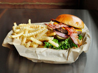 360 Bacon Cheeseburger with French Fries