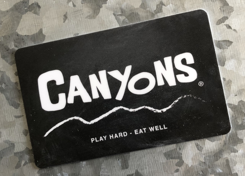 Canyons Gift Cards Available