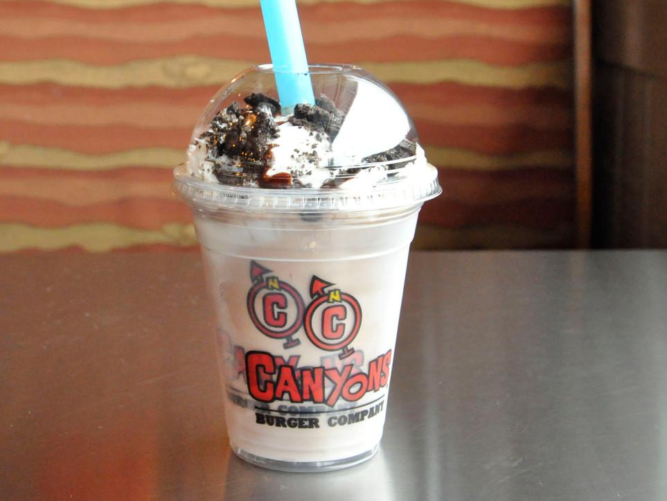 Chocolate Milkshake with Oreo Crumbles