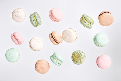 Macarons (Minimum -12 nos, Rs 80/piece )