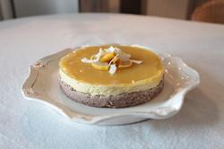 Cheesecake revisité à la mangue-VEGAN_