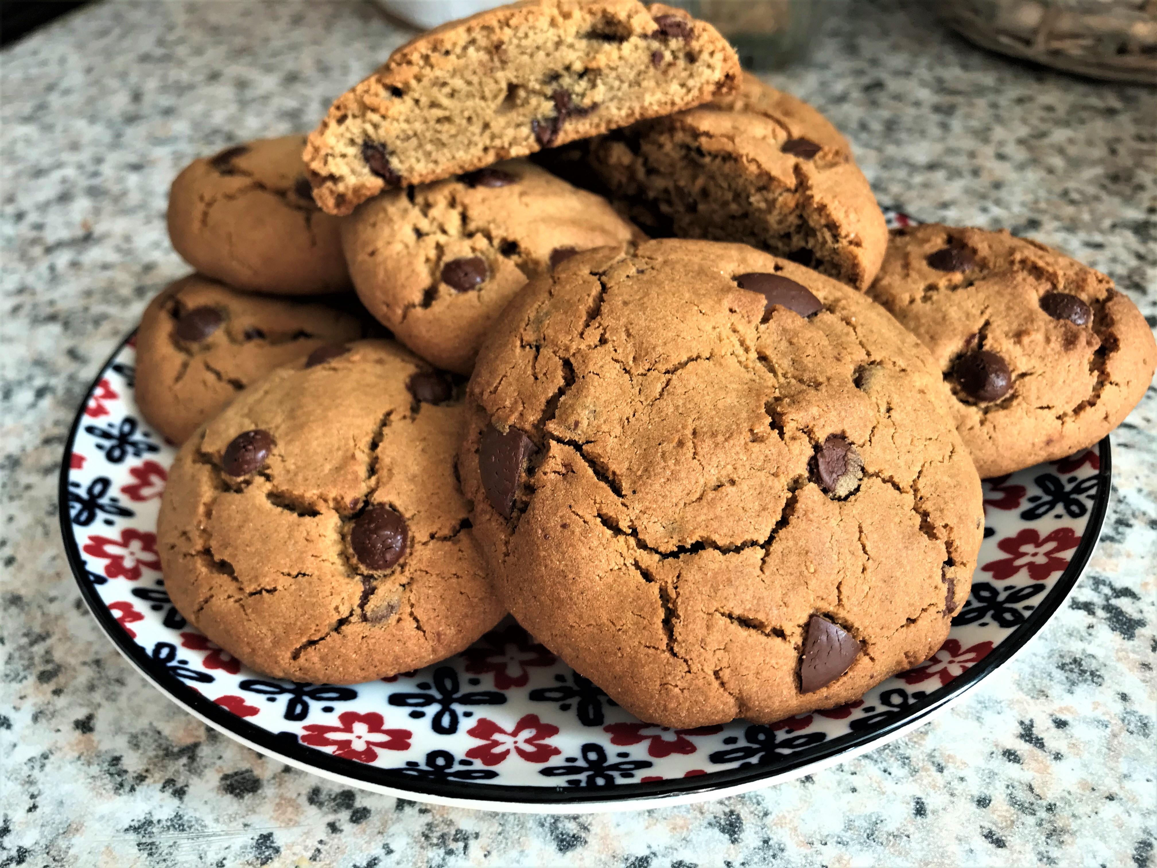 Cookies gourmands, éclats de noisettes et pépites e chocolat