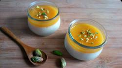 Panna cotta végétale à l'orange