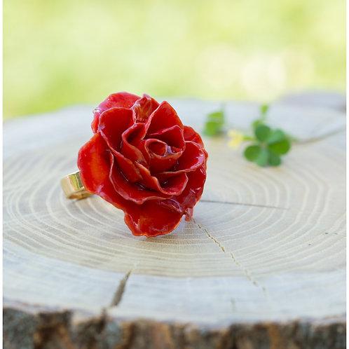טבעת פרח ורד גדול