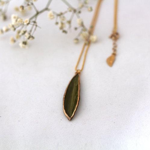 שרשרת גולדפילד עם תליון עלה עץ זית