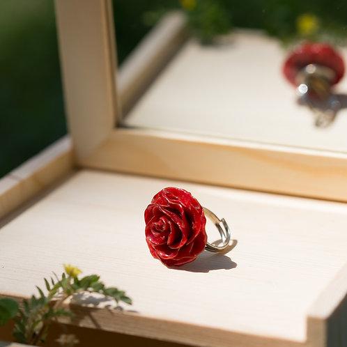 טבעת פרח ורד