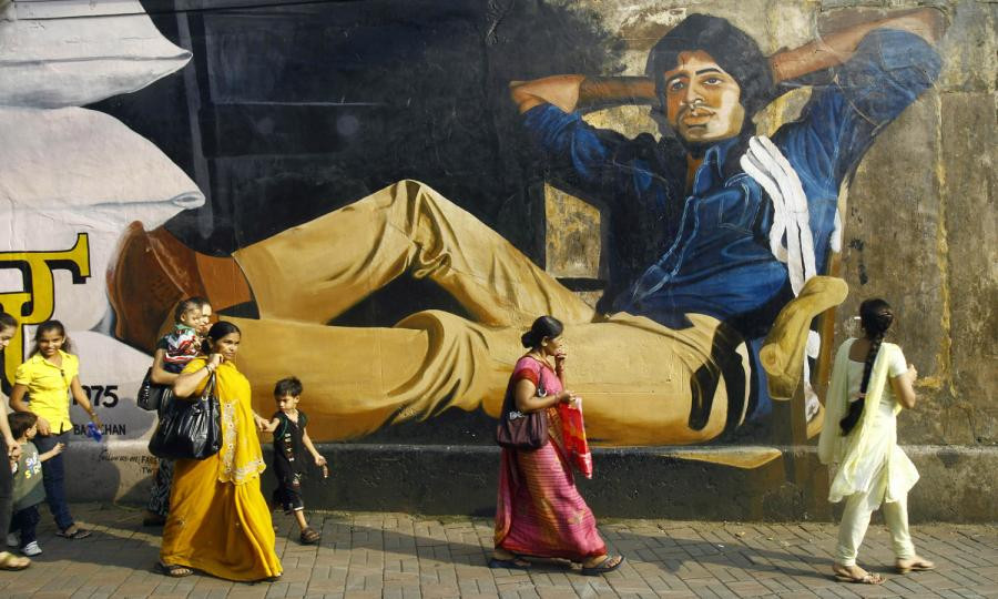 Indian Film Institute Amitabh Bachchan Mural
