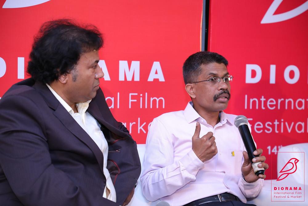 Manoj Srivastava, Festival Director & MN Gujr, Distributor