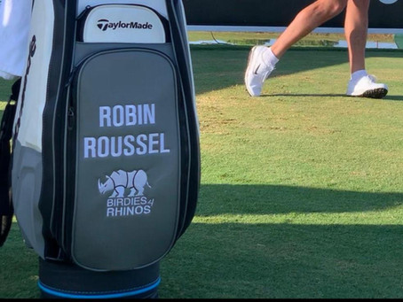 Robin Roussel s'engage avec Birdies 4 Rhinos