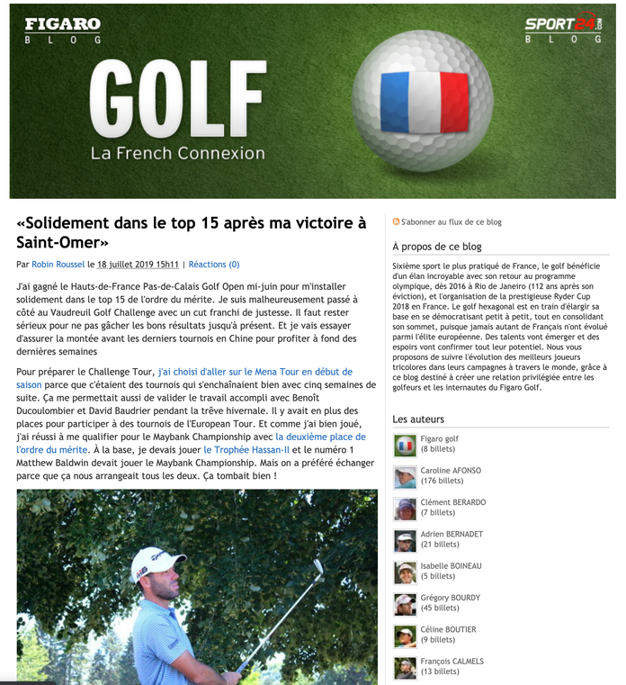 Figaro Blog (07/18/2019)
