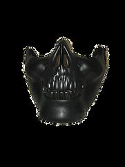 HALF SKULL MASK-BLACK