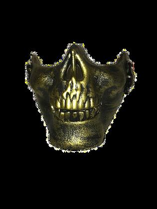 HALF SKULL MASK-GOLD