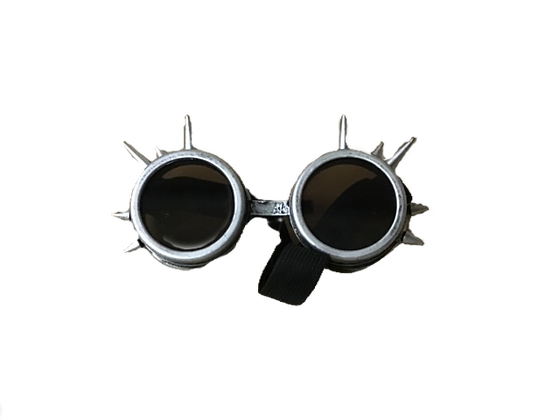 COSPLAY SPIKE GOGGLES-SILVER