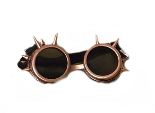 COSPLAY SPIKE GOGGLES-BRONZE