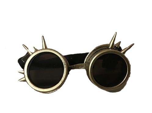 COSPLAY SPIKE GOGGLES- GOLD