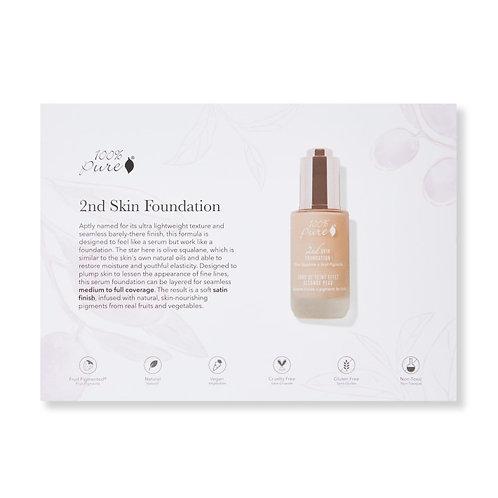 2nd Skin Foundation Sample Packet Postcard