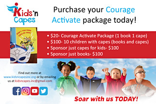 """4x6"""" Postcard for Kids'n Capes"""