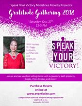 Gratitude Gathering 2018 Flyer