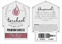 Wine Candle Labels