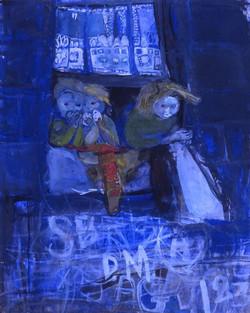 Three Children at a Tenement Window, 1961