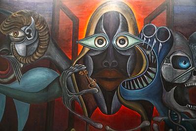 MEIER 87. Artwork, mix technique on canvas, 500 x 200
