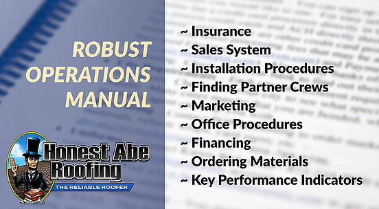 Honest Abe Roofing Franchise - Operation