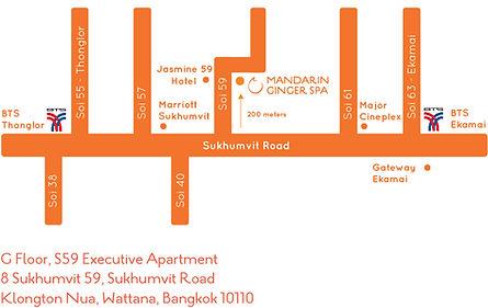 Mandarin Ginger Spa Map