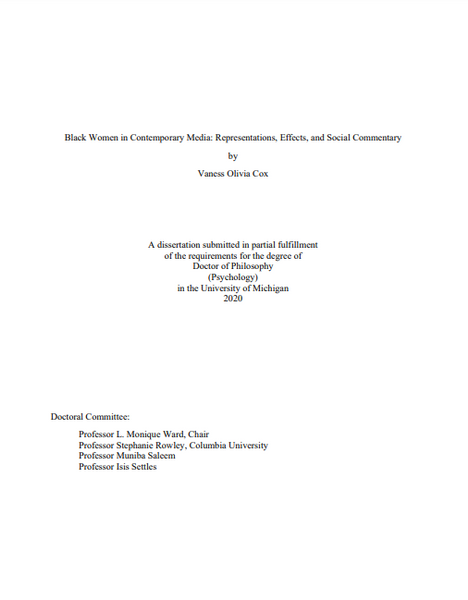Black Women in Contemporary Media: Representations, Effects, and Social Commentary