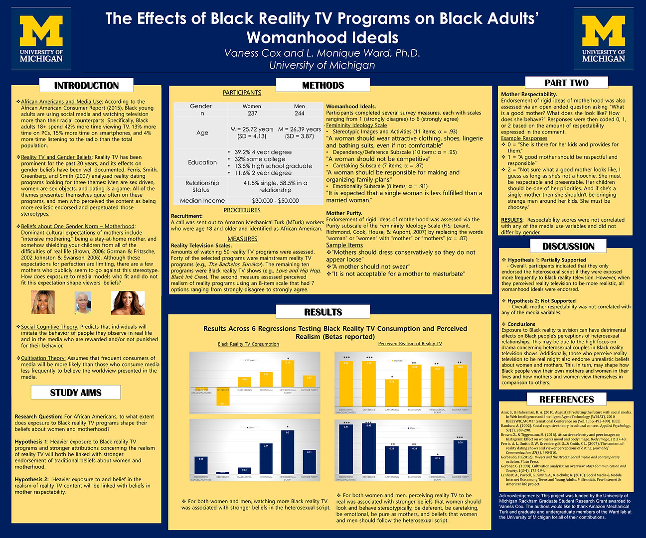 The Effects of Black Reality TV Programs on Black Adults' Womanhood Ideals