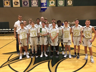 Fast starts and strong defense for ZWEST 7th Grade were the keys for Shootout Championship!