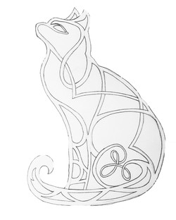 Stained 'Glass' Cat