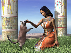 Netherit Maau and Her Cat