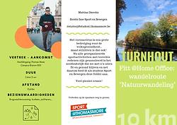 Wandeling Turnhout COVID-19 sport Thomas