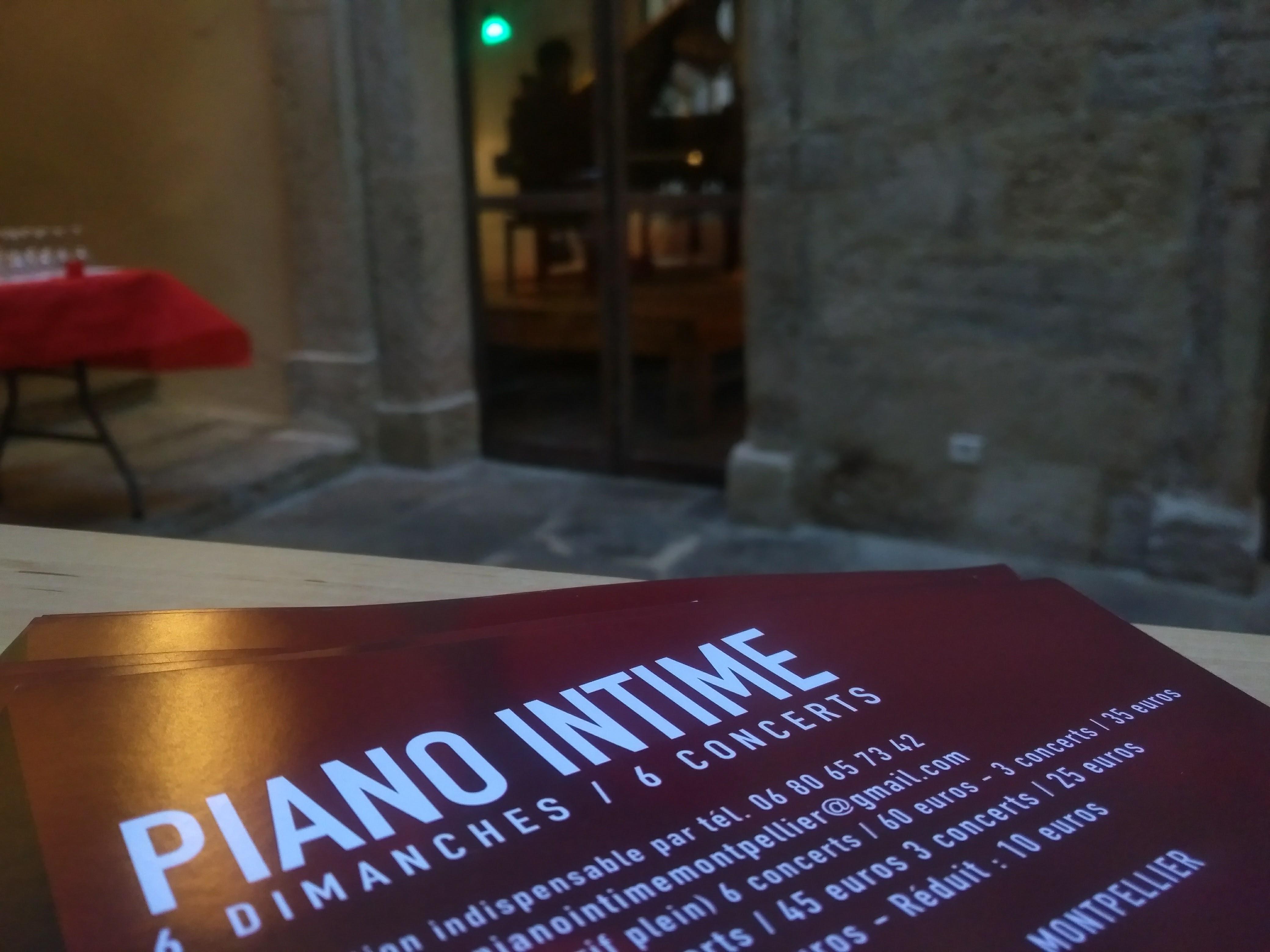 Piano Intime...le début!