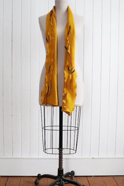 Petit foulard rectangulaire avec appliqués