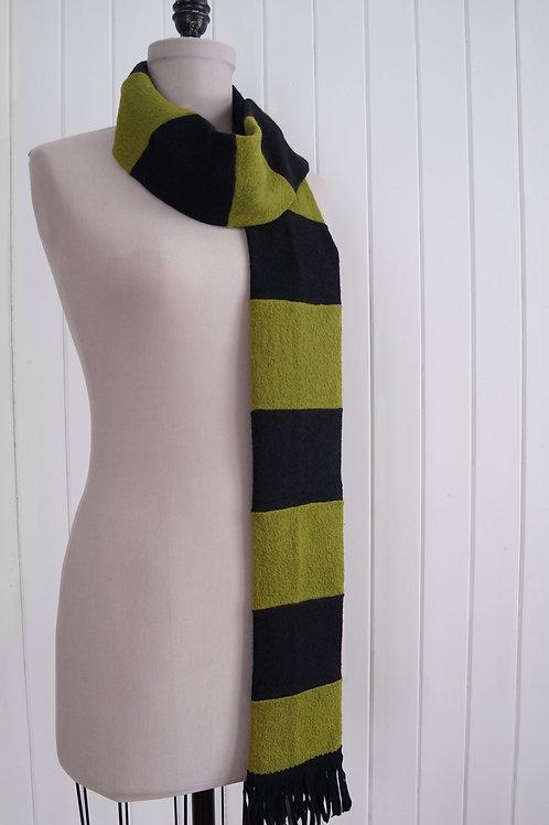 Foulard rayé - Vert & noir