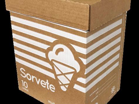 Multipapel lança nova caixa para sorvete 10L