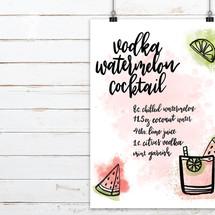 Vodka Watermelon Cocktail Print