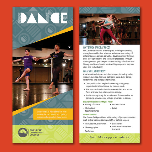 2021 Visual and Performing Arts Rack Cards